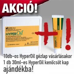 HYPEROiL 10 x 10 cm-es átitatott gézlapok (10 db/csomag)